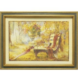 Дизайнерская картина Династия 05-014-01 Лавочка в парке