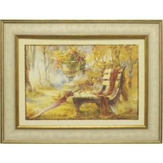 Дизайнерская картина Династия 05-014-06 Лавочка в парке