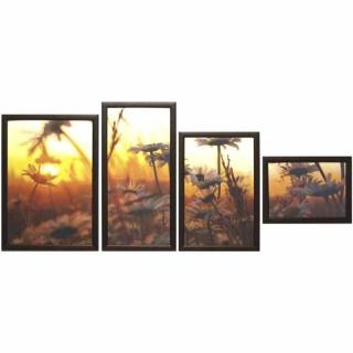 Модульная картина Династия 06-062-04 Ромашковое поле