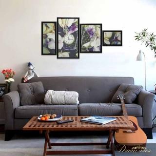 картина Династия 06-081-06 Часы в цветах