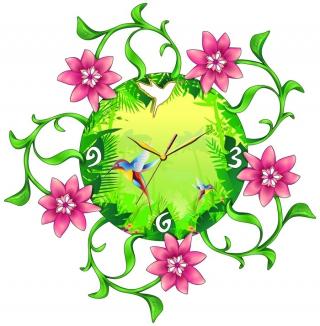 """Настенные часы Tiarella """"Колибри"""""""