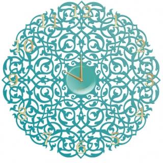 Настенные часы Икониум (бирюза) Цифры
