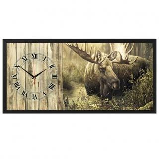 """Настенные часы из песка Династия 03-059 """"Лось"""""""
