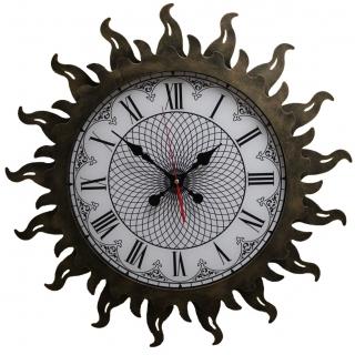 Настенные часы из металла 07-010 Стальное Солнце