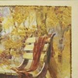 Дизайнерская картина Династия 05-014-05 Лавочка в парке
