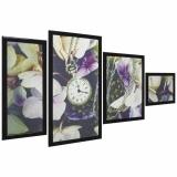 Династия 06-081-06 Часы в цветах