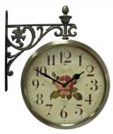 Настенные часы двусторонние на кронштейне B&S М195 AF