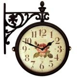 Настенные часы двусторонние на кронштейне B&S M195 BR-AF