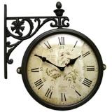 Настенные часы двусторонние на подвесе B&S M195 BR-F6