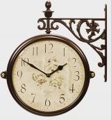 Настенные часы двусторонние на подвесе B&S M195 BR-F6(A)