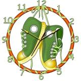 """Настенные часы Tiarella """"Кеды"""""""