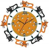 """Настенные часы Tiarella """"Кошки"""""""