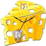 """Настенные часы Tiarella """"Ломтик сыра"""""""