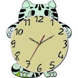 """Настенные часы Tiarella """"Смешной котёнок"""""""