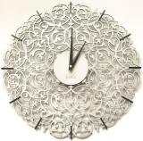 Настенные часы Икониум (серебро) засечки