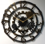 Настенные часы из металла Династия 07-006 Скелетон-2
