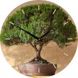 """Настенные часы из стекла Династия """"Дерево"""" D4007"""