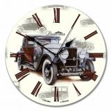 """Настенные часы из стекла Династия 01-001 """"Ретро"""""""