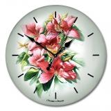 """Настенные часы из стекла Династия 01-016 """"Букет"""""""
