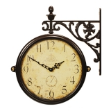 Настенные часы двусторонние на подвесе B&S M195 BR-CR(A)