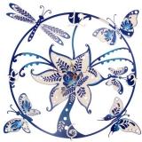 """Настенные часы Tiarella """"Бабочки стрекозы"""""""