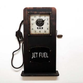 Настенные часы-бензоколонка GALAXY DA-005 Black