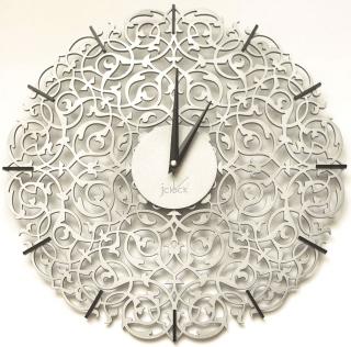Настенные часы Икониум 50 см (серебро) засечки