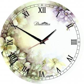 """Настенные часы из стекла Династия 01-017 """"Нежность"""""""