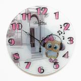 Настенные часы из стекла Династия 01-072 Совенок