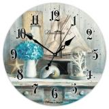 Настенные часы из стекла Династия 01-074 Морской прованс