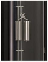 Напольные черные часы Hermle 0351-74-228