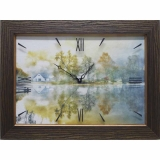 Часы-картины Династия 04-011-05 Дом у озера