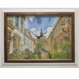 Часы-картины Династия 04-014-11 Улица в Голландии