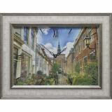 Часы-картины Династия 04-014-15 Улица в Голландии