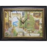 Часы-картины Династия 04-030-12 Уютный дворик