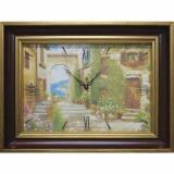 Часы-картины Династия 04-030-14 Уютный дворик