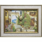 Часы-картины Династия 04-030-06 Уютный дворик