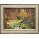 Часы-картины Династия 04-036-06 Осенний лес