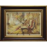 Часы-картины Династия 04-037-14 Осенний парк