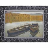 Дизайнерская картина Династия 05-018-07 Лодки у берега