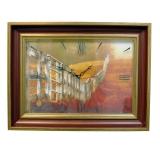 Часы картины Династия 04-052-14 Забор в поле