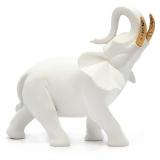 """Статуэтка Nadal 733010 """"Белый слон (золотые бивни)"""""""