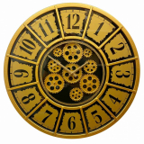 Настенные часы с шестеренками GALAXY CRK-500-A