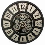 Настенные часы с шестеренками GALAXY CRK-500-G