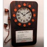 Настенные часы-телефон GALAXY DA-006 Black