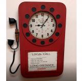 Настенные часы-телефон GALAXY DA-006 Red