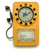 Настенные часы-телефон GALAXY DA-006 Yellow