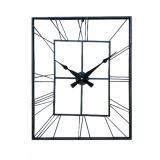 Настенные часы GALAXY DM-130 Black, 60х70см, из металла