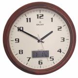 Настенные часы с термометром и гигрометром GALAXY T-1971-F
