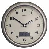 Настенные часы с термометром и гигрометром GALAXY T-1971-S